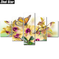 Zhui Star 5D DIY Full Square Diamond Painting Butterfly Flower Multi Picture Combination Embroidery Cross Stitch