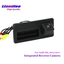 Liandlee For Audi A6 A6L 2012-2017 Car Rear View Backup Parking Camera Rearview Reverse Camera / Trunk Handle Integrated цена и фото