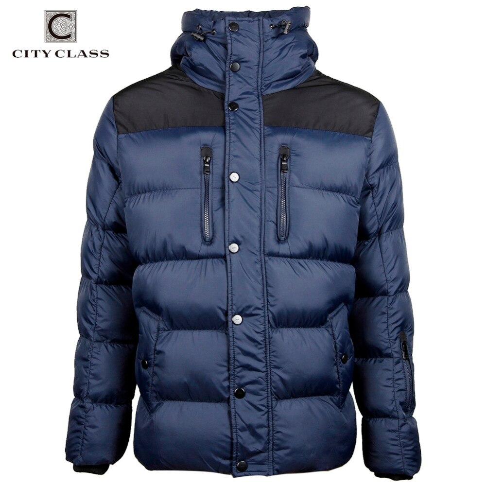 CITY CLASS 2019 แฟชั่นฤดูหนาวใหม่แจ็คเก็ตหนาเสื้อกันหนาวลำลองฝ้าย Hooded ชาย Outerwear จัดส่งฟรี 2678-ใน เสื้อกันลม จาก เสื้อผ้าผู้ชาย บน   1