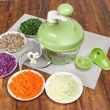 Multi-function Kitchen Manual Food Processor Household Meat Grinder Vegetable Chopper Quick Shredder Green Cutter Egg Blender