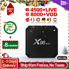 IPTV France BOX X96 mini SUBTV IPTV Subscription Android 7.1 TV Receiver with Spain Arabic Belgium Portugal Dutch France IP TV