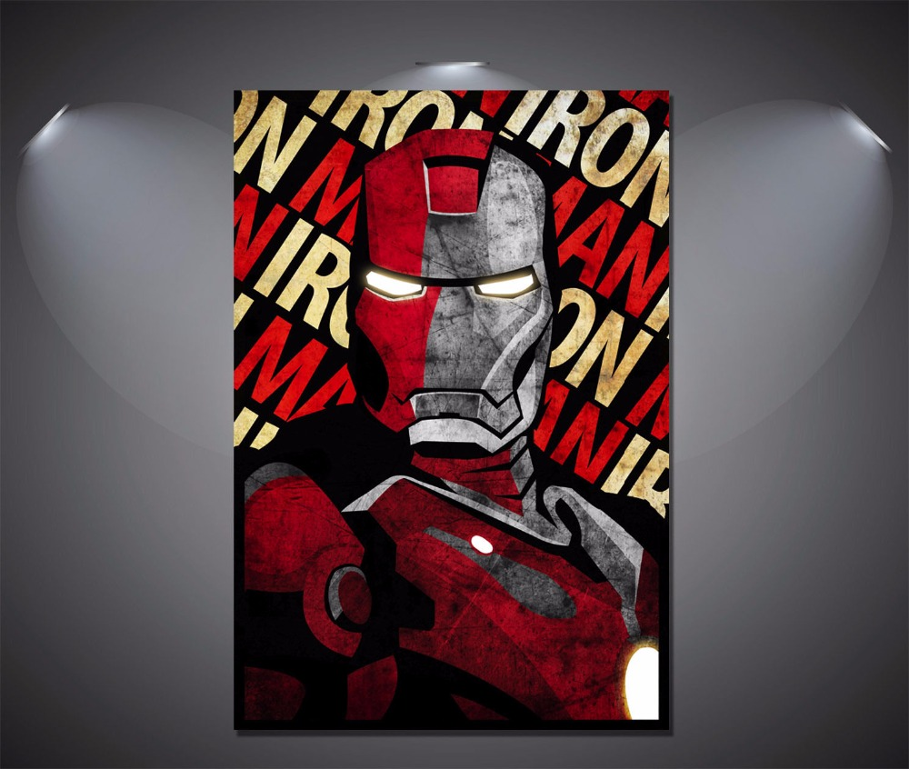Comic Wall Decor Us 7 Wall Decor Iron Man Vintage Art Deco Comic Poster Print Art Decor Gift In Painting Calligraphy From Home Garden On Aliexpress