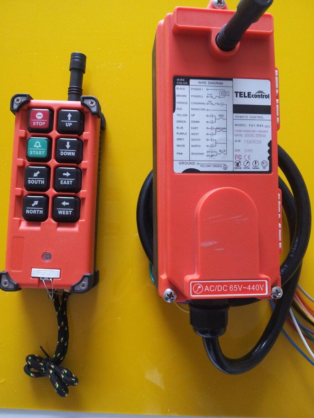 Télécommande radio industrielle de F21-E1B de télérance pour la grue et le palan