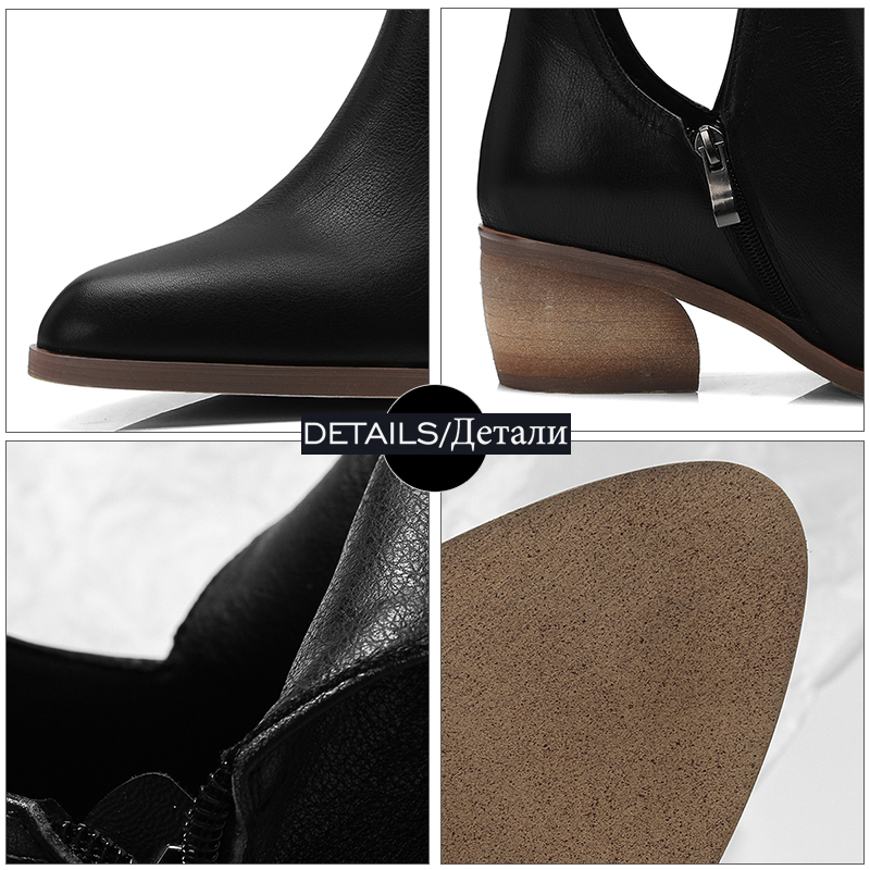 Cheville Botte rouge Haut Pointu Hiver Femmes Zip black Talons Haute Chaussures Véritable De Orteil Wetkiss Cuir Bois Noir Bottes Chaud brown Col En 2018 cBHwqvOYO