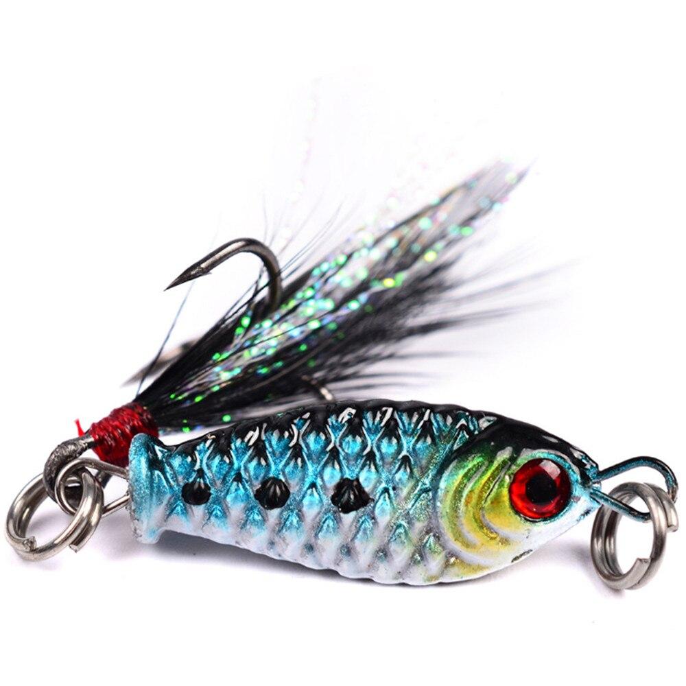 5PCS Long Tongue Fake Bait Rock Minor Fish Hook Fake Crank Bait Fishing