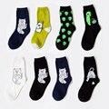 2017 nuevo diseño ripndip moda pretty cute cat extranjero marca calcetines de algodón de las mujeres calcetines