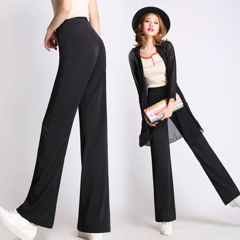 bb72883b2a55 Весенние штаны 2017, женская обувь модный Высокая Талия Белый Черный ...