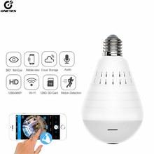 Home Surveillance Kamera IP Kamera 1080P LED Ligh Drahtlose Panorama Fisheye Birne Lampe WIFI Kamera 360 Grad WiFi CCTV cam