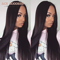 "Full Lace Human Hair Wigs For Black Women Malaysian Straight Lace Frontal Wig 8""-30"" 8A Full Lace Wigs Human Hair With Baby Hair"