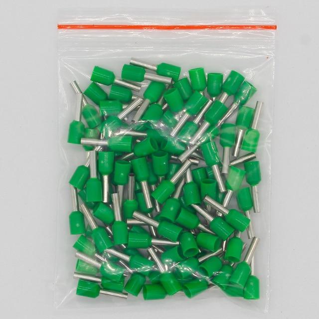 E1508 Rohr isolierende Isolierte terminals 1,5 MM2 100PCS/Pack Kabel Draht Stecker Isolierende Crimp Terminal Stecker E-