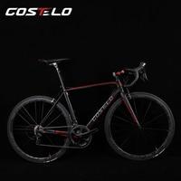 Costelo gt. الصفر إطار دراجة الطريق bicylce الكربون الطريق إطار مجموعات الأصلية عجلات الدراجة الطريق السرج شريط الإطارات