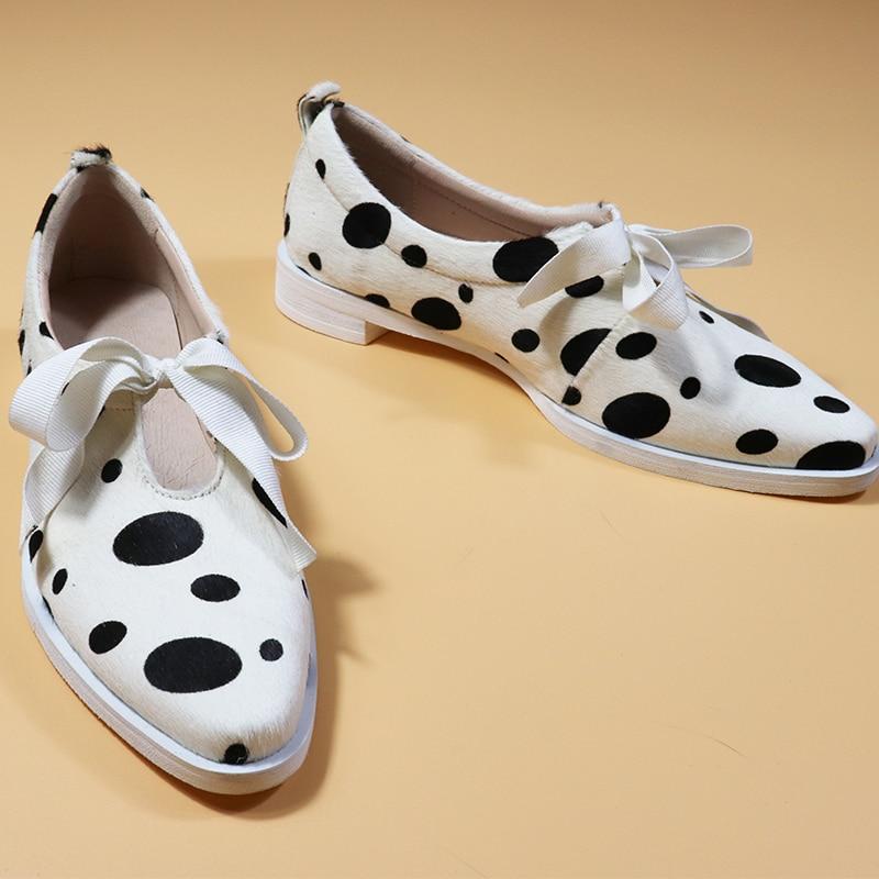 여성 플랫 옥스포드 신발 말 머리 가죽 플랫 옥스포드 숙녀 brogues 빈티지 캐주얼 옥스포드 신발 여성 신발-에서여성용 플랫부터 신발 의  그룹 3
