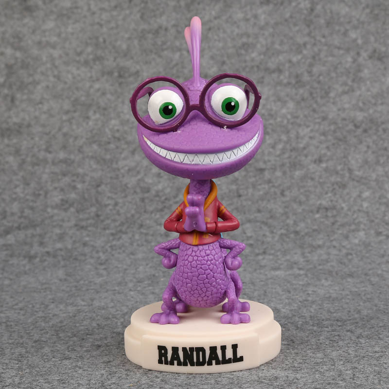Monsters University Randall Boggs Wacky Wobbler Bobble Head PVC Action Figure Collection Toy Doll 17cm  funko pop marvel loki 36 bobble head wacky wobbler pvc action figure collection toy doll 12cm fkg120