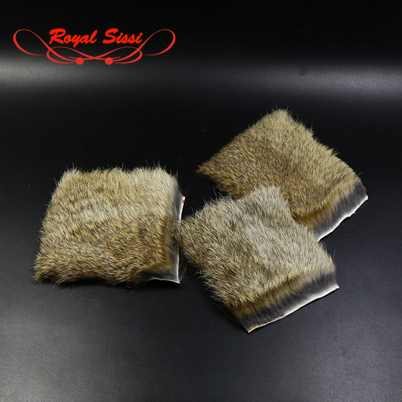 2 PCS/Pack Natural Coney Genuine Rabbit Fur Craft Skin Hide Hair Fly Fishing Tying Material for Nymph Patterns Flies Animal Pelt 5sheets pack 10cm x 5cm holographic adhesive film fly tying laser rainbow materials sticker film flash tape for fly lure fishing