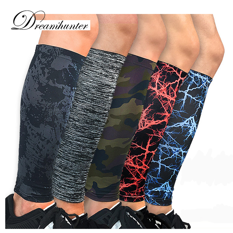 2d6fa88bc2 Printed Camouflage Calf Compression Sleeves Basketball Football Running Leg  Brace Protector Warmers Cycling Fitness Shin Guard