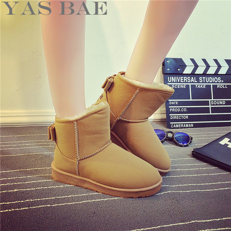 Yas Bae women Fur Leather Suede Winter Snow Boots Shoe ug