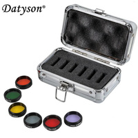 Datyson 6 pieces Color Astro Filters Set 1.25 for Astronomical Telescopes Ocular Lens Moon Nebula filter with Aluminum Case