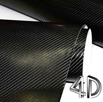 цена на 5meter 4d carbon fiber vinyl carbon film wrap phone Motorcyle Car interior Exterior Sticker Glossy Wrapping Vinyl Wrap Cover