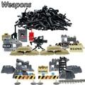 Diy serie militar swat policía pistola armas del ejército paquete arma módulo mejor regalo de los niños juguetes de ladrillo para la policía de la ciudad