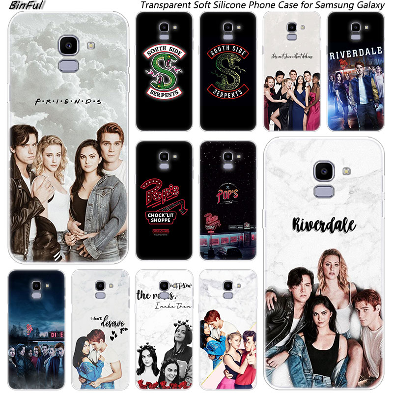 <font><b>Riverdale</b></font> South Side Serpents Soft Silicone <font><b>Case</b></font> For <font><b>Samsung</b></font> <font><b>Galaxy</b></font> J8 J6 J4 2018 J2 Core J5 J6 J7 Prime <font><b>J3</b></font> <font><b>2016</b></font> 2017 EU J4 Plus image