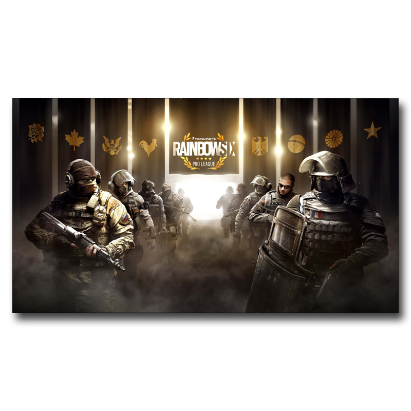 FOOCAME Rainbow Six Siege CTU PC Gaming Weapon Art Silk Poster Prints Decor Painting 11x20 16x29 20x36 24x43 30x54 Inches