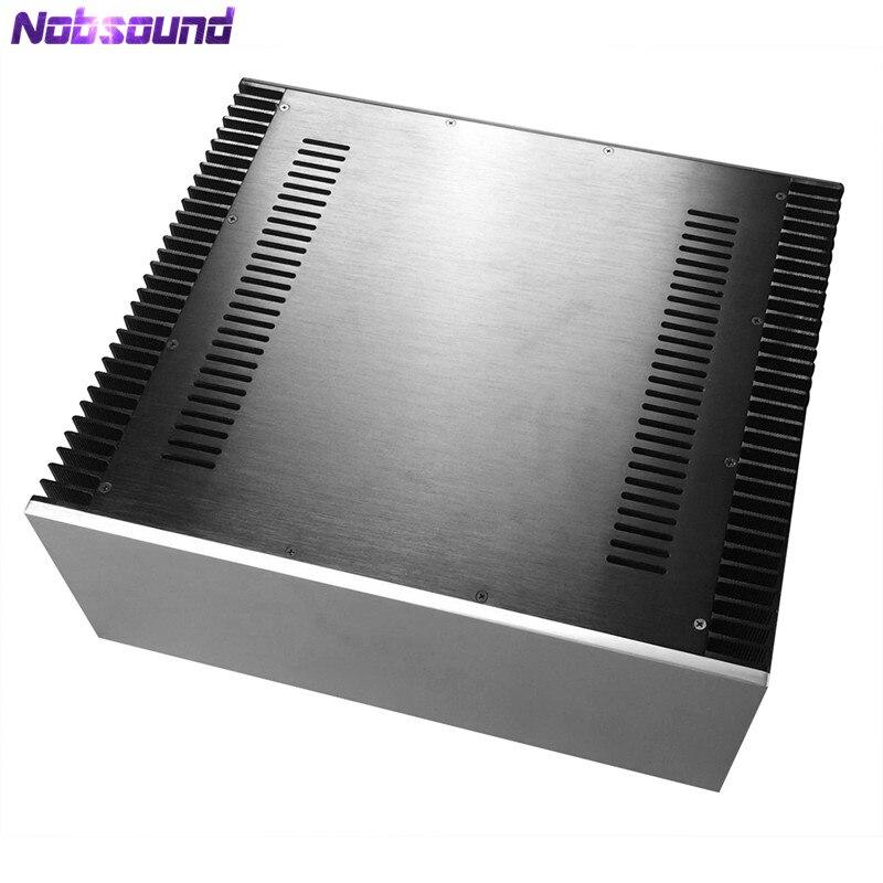 High-End Big Aluminum Chassis Class A Power Amplifier Enclosure W430*H120*D411mm цены