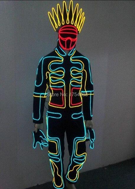 LED Kostüme/licht roboter anzug/EL Draht/Neon/leuchtbekleidung/Licht ...