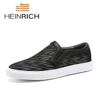 HEINRICH New Hot Sale Summer Fashion Shoes Men Lightweight Breathable Casual Shoes Popular Slip On Flats Shoes Soulier Homme
