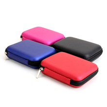 "2.5"" External HDD Hard Disk Drive Hand Carry Storage Box Case USB Data Cable Adapter Earphones Laptop Accessories Enclosure Bag"