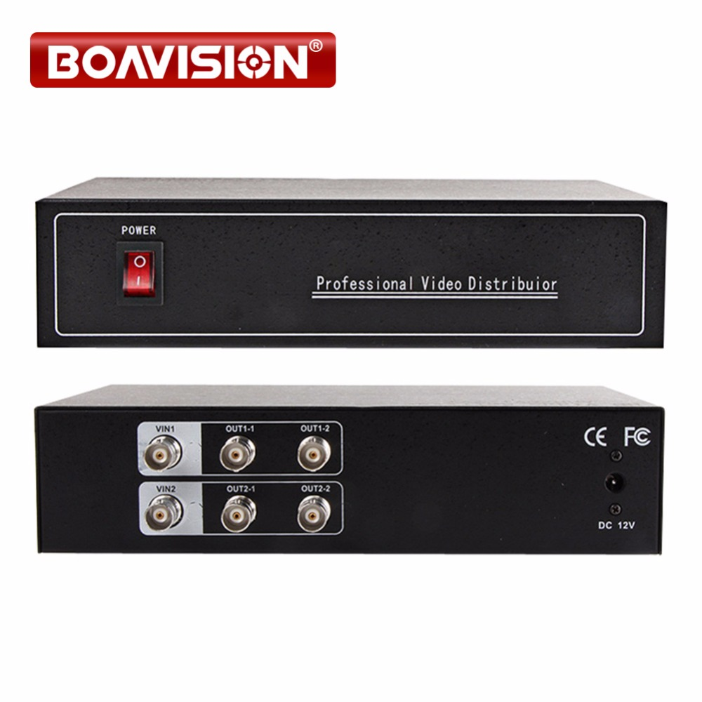 2 To 4 Video Splitter/HD Video Distributor BNC 2 Input 4 Output,Support HD AHD/CVI/TVI Camera In&Out,Distance Max To 300-600M 4 in 1 ir high speed dome camera ahd tvi cvi cvbs 1080p output ir night vision 150m ptz dome camera with wiper