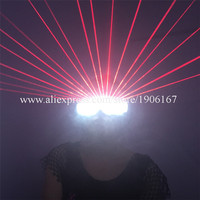 3 Pcs Led Luminous Red Laser Party Glasses With 18 Pcs Lasers Laserman Glasses Christmas Halloween
