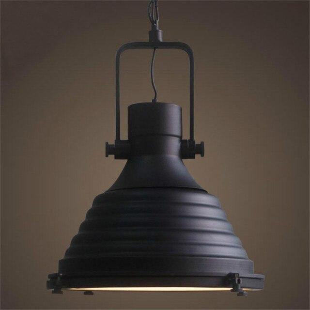 Schmiedeeisen Industriependelleuchten Vintage Schwarz Beleuchtung