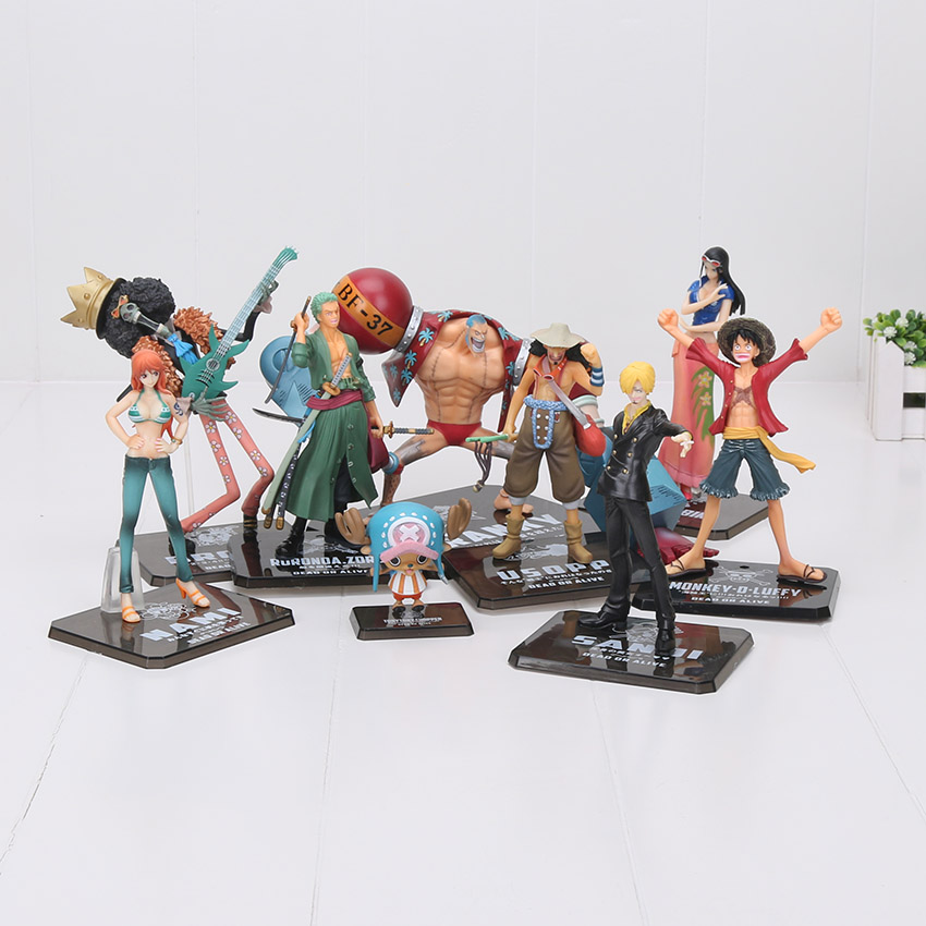 Anime One Piece Action Figures 2 Years Later Luffy Law Benn Zoro Sanji Usopp Brook Franky Nami Chopper PVC figures dolls цена