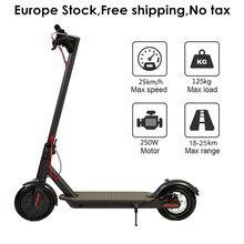 Склад в Европе 8,5 дюйма складной самокат IP54 25 км пробег взрослый складной электрический самокат 8,5 «два колеса E скутер