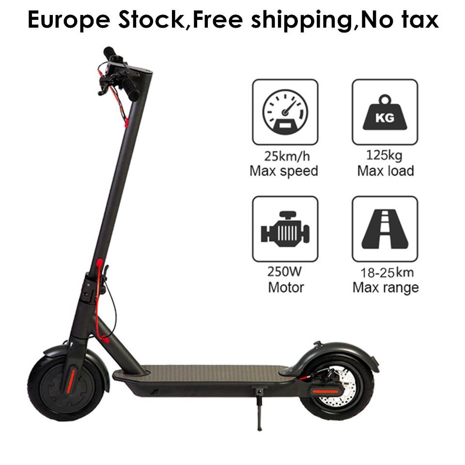 L'europe Stock 8.5 pouce Pliant Électrique Scooter IP54 25 km Kilométrage Adulte Pliable Électrique Kick Scooter 8.5 Deux Roues E Scooter
