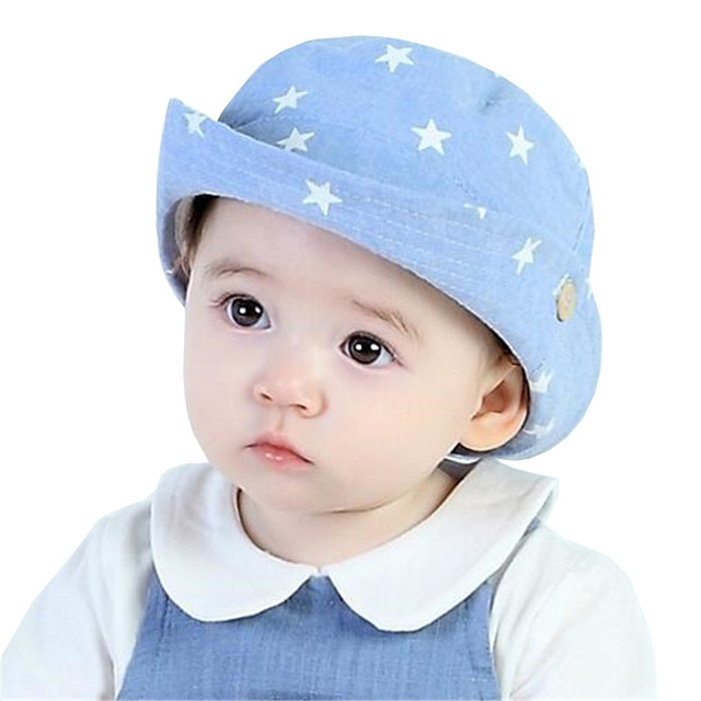e371fb68302 Fashion Stars Baby Boy Hats Beach Bucket Sun Hat Cowboy Cap Spring Summer  Autumn Kids Hats