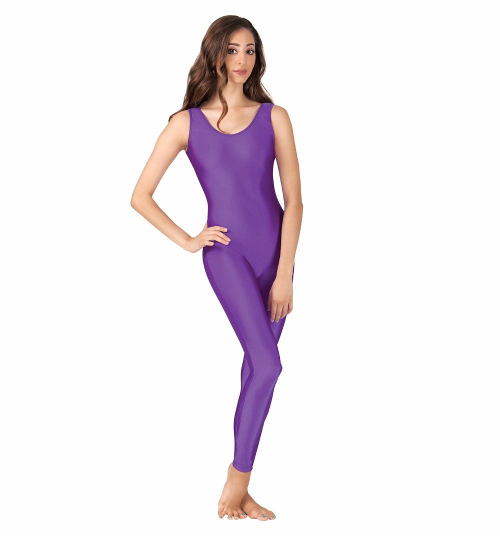 Adult Scoop Neck Nylon Tank Unitard Women Lycra Ballet Dance Leotard For Gymnastics Girls Dance Clothes Spandex Dancewear