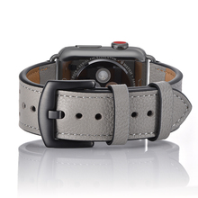 Band Strap For Watch band Series 4 3 2 1 38mm 44mm , VIOTOO Gray Color Genuine Leather Watchband Iwatch