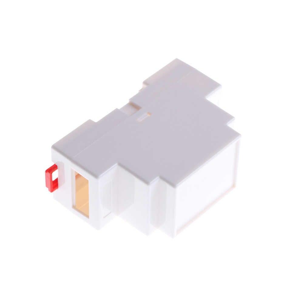 1pc 88 × 37 × 59 ミリメートルプラスチックエレクトロニクスボックスプロジェクトケース Din レール PLC ジャンクションボックス