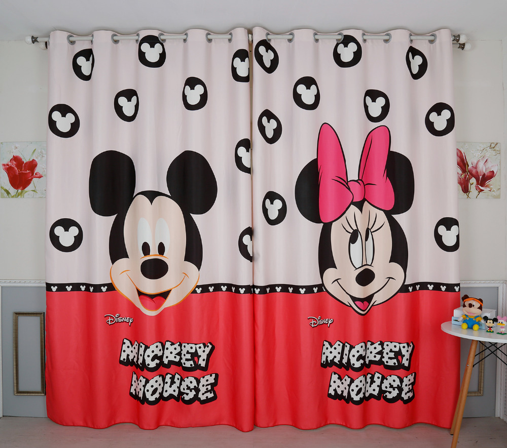 Minnie Mouse Bedroom Curtains Online Buy Wholesale Minnie Mouse Curtains From China Minnie Mouse