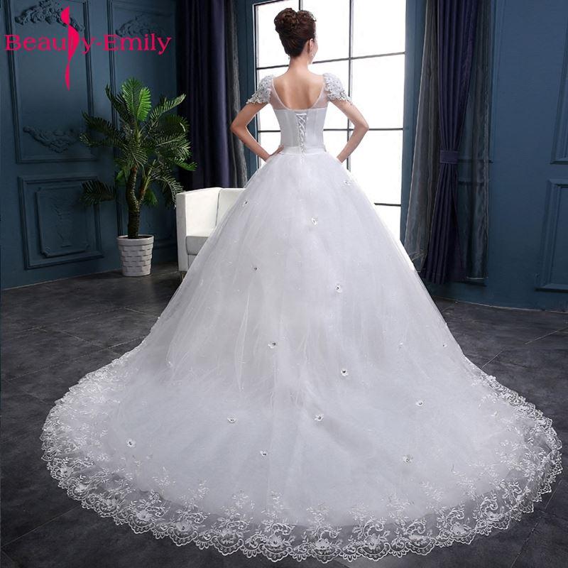 Ομορφιά-Emily Λευκό νυφικά 2018 Μπάλες - Γαμήλια φορέματα - Φωτογραφία 2