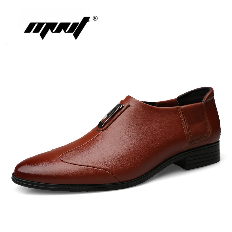 Haute qualité en cuir véritable hommes chaussures partie bout pointu robe mariages chaussures chaussures d'affaires hommes Oxfords chaussures livraison directe