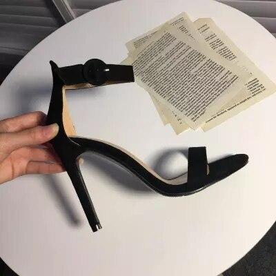 Fine Bout Mince Hauts Mot Sandales Ouvert Noir Des À Sauvage Femmes 10cm Avec De Nouveau 8cm Sexy Talons W9IYDHE2