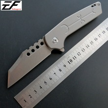 Eafengrow EF333 Camping Knife Folding Tactical Knives D2 Steel Blade Titanium Handle New Three Colors Hand Tool