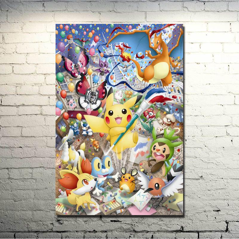 Pokemon Xy Anime Game Art Silk Fabric Poster Canvas Print ...
