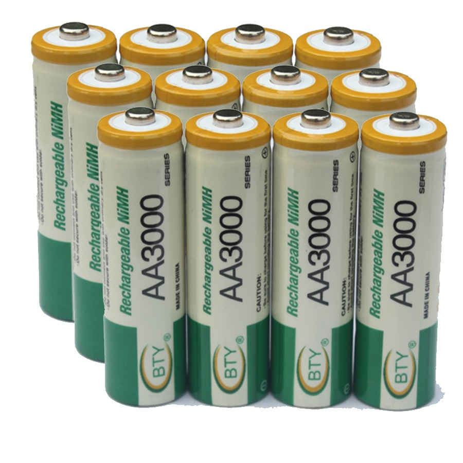 12Pcs 1.2V Battery AA rechargeable NI-MH rechargeable batteries 2A battery 800MAH High quality original Battery for