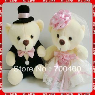 Wholesale 12 Wedding Teddy Bears Wedding Car Decoration Bears For