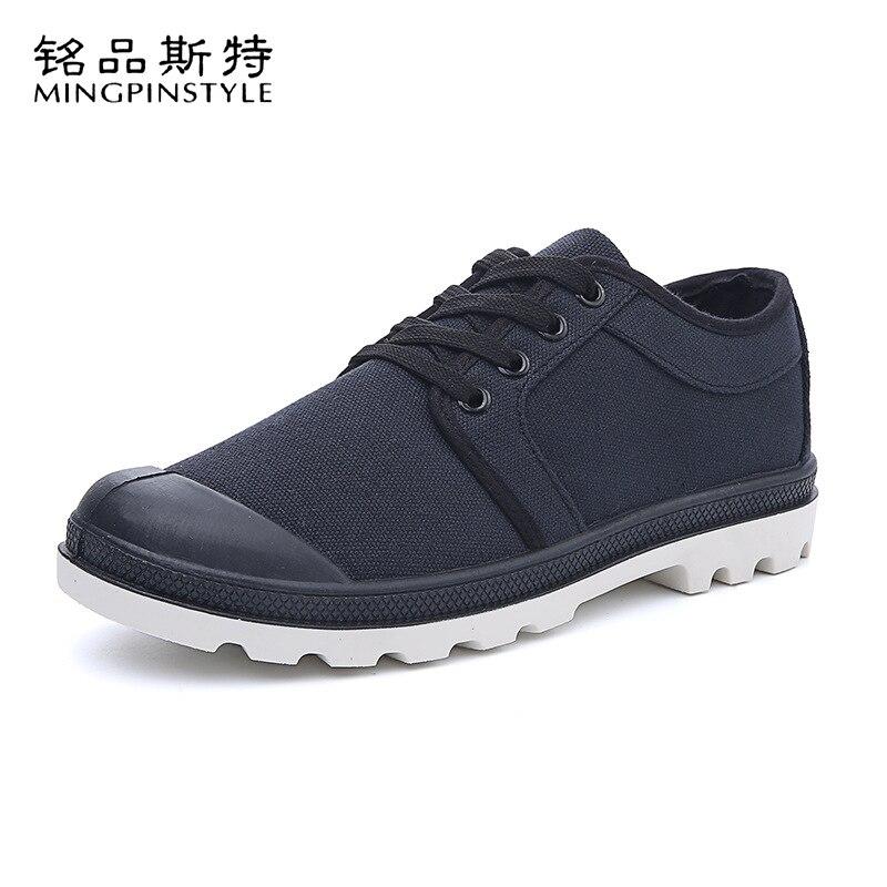 Mingpinstyle chaussures en toile mode d'été vulcaniser faible aide chaussures en toile peu profonde chaussures à lacets résistant à l'usure respirant baskets