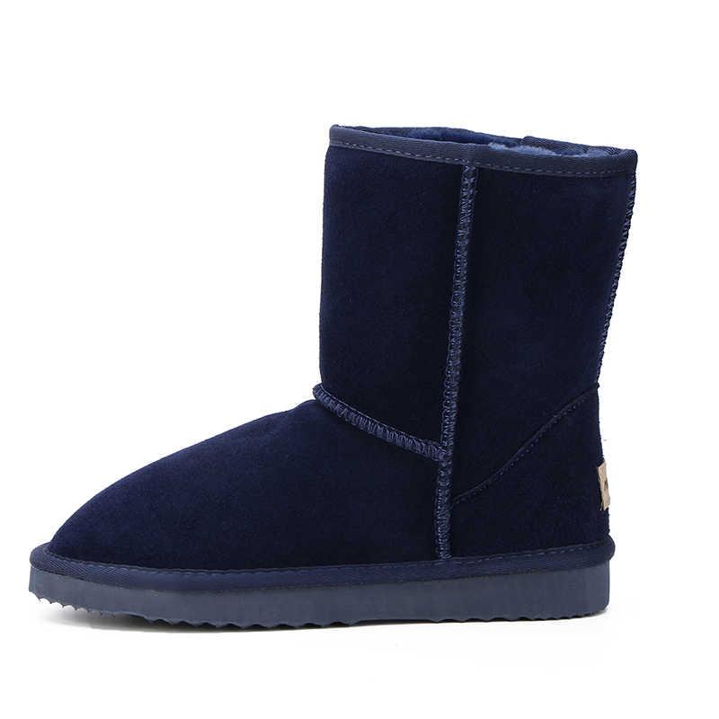 HABUCKN Avustralya Sıcak Satış 100% Hakiki Deri Moda Kızlar Kış Kar Botları Kadınlar Için Sıcak Kış Ayakkabı Ücretsiz Kargo