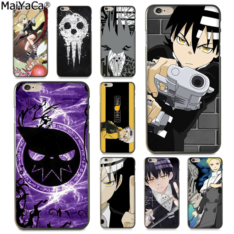 MaiYaCa Soul Eater Anime Head Luxury Fashion Phone Case for Apple iPhone 8 7 6 6S Plus X 5 5S SE 5C Cover